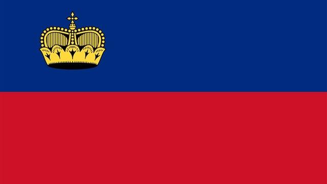 La bandiera da Liechtenstein.