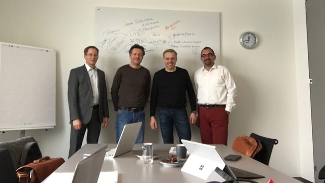 Da sen: Mauro Lardi, Simon Jacomet, Urs Wullschleger, Kurt Schär (i manca Andy Egli)