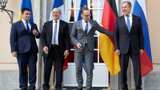 Die Aussenminister der Ukraine, Frankreichs, Deutschlands und Russlands