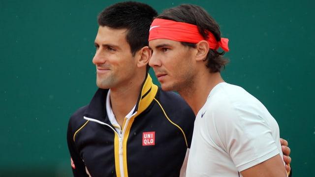 Novak Djokovic (links) und Rafael Nadal.