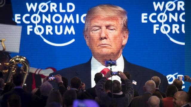 Trump im Januar 2020 am WEF in Davos.