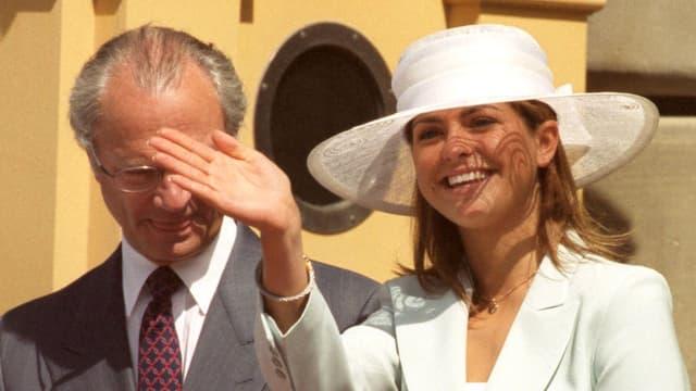 Prinzessin Madeleine und König Carl Gustaf