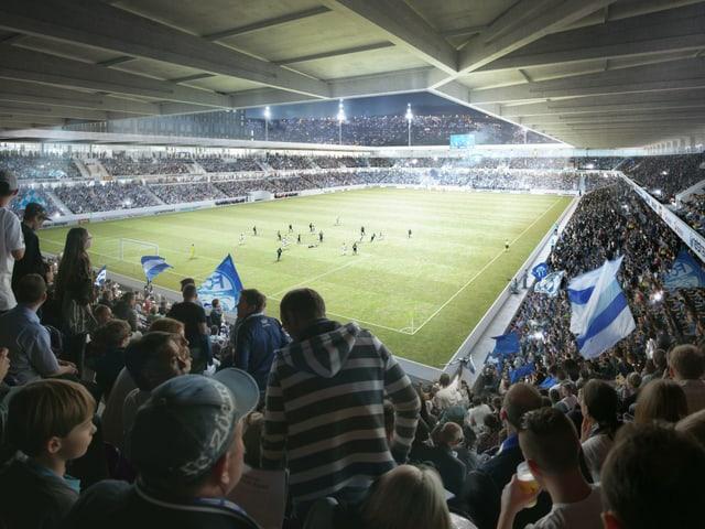 Im neuen Stadion sollen 18'000 Zuschauer Platz finden.