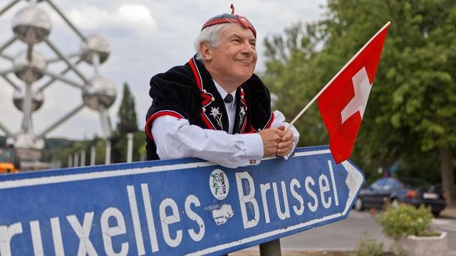 Ein Älpler in Brüssel.