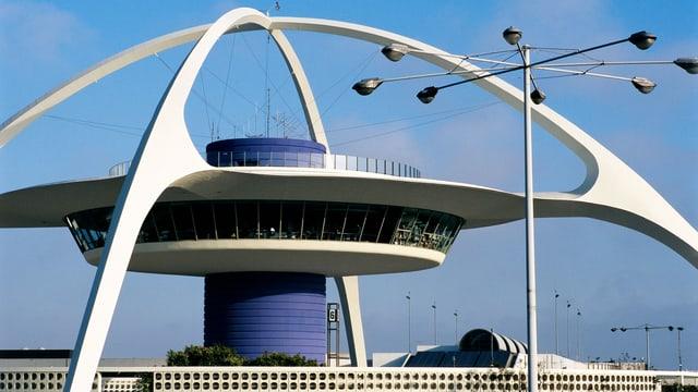 Ein Ufo-artiges Gebäude.