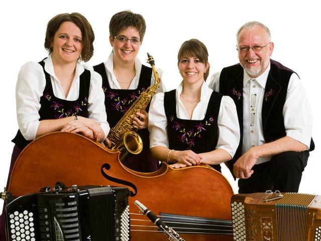 Gruppenfoto vom Musikquartett Willis Wyberkapelle.