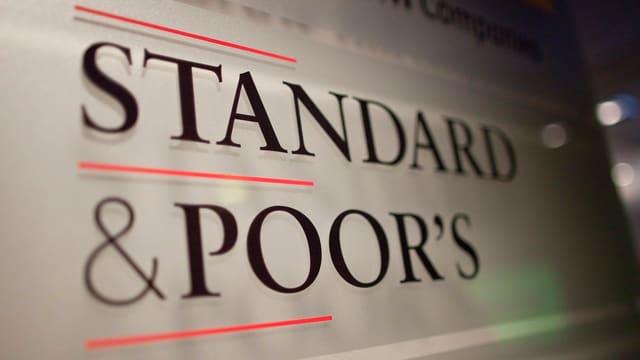 Firmenschild von Standard & Poor's