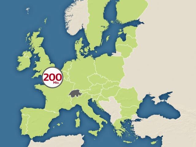 Karte der östlichen EU-Staaten.