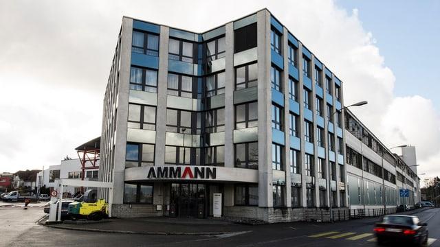 Gebäude der Ammann Group in Langenthal im Kanton Bern