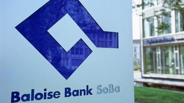 Firmenschild der Bank SoBa