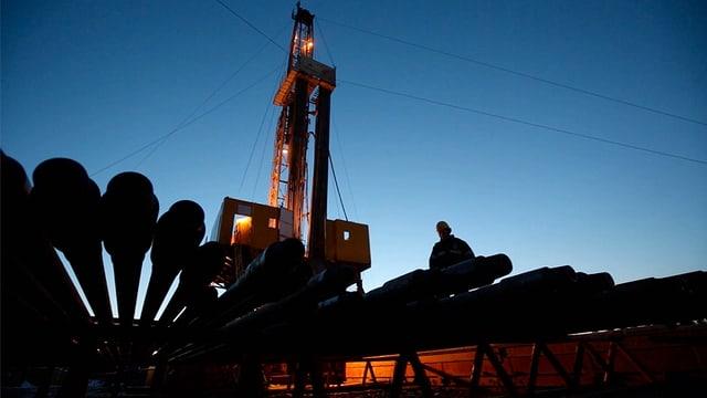 Öl-Bohrturm auf Samotlor dem grössten Öl-Feld in Russland.