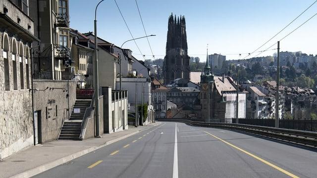 Zu sehen die Stadt Fribourg