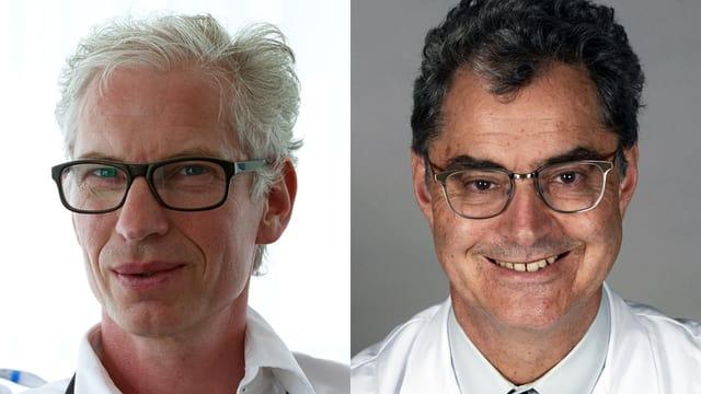 Porträts von Dr. Rainer Kehrt  und Prof. Peter Schmid-Grendelmeier.
