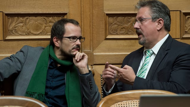 Glaettli und Flach im Disput.