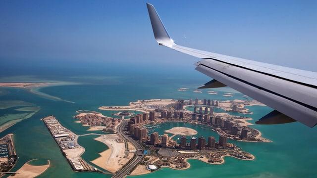 Anflug auf die Hauptstadt Doha.
