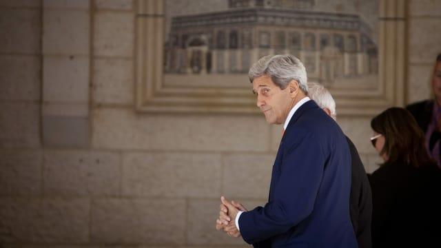 John Kerry in Jerusalem.