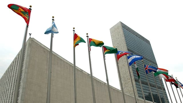 Purtret dal bajetg da l'ONU a New York.