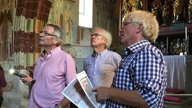 Da sanester: Horst Rupp, participant dal seminari davart il «Meister da Vuorz» e Gerhard Simon.