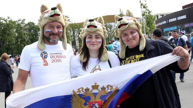 fans smincads e cun bandiera russa