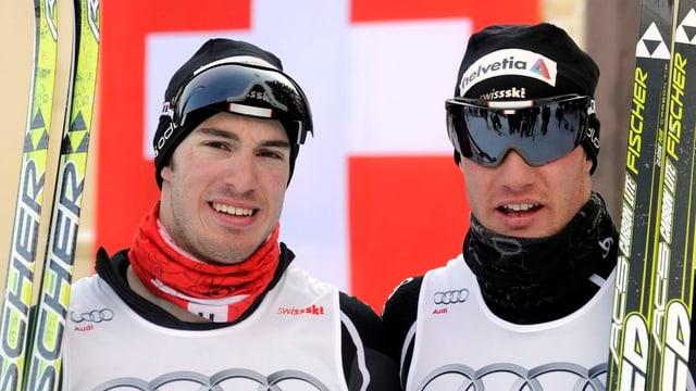 Gianluca und Dario Cologna