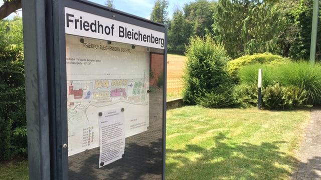 Schild Friedhof Bleichenberg