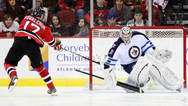 In der NHL traf Kowaltschuk insgesamt 417 Mal.