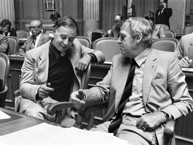 Jean Ziegler und Helmut Hubacher.