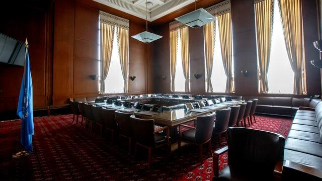 Raum 1 der Syrien-Gespräche im Uno-Hauptquartier in Genf.