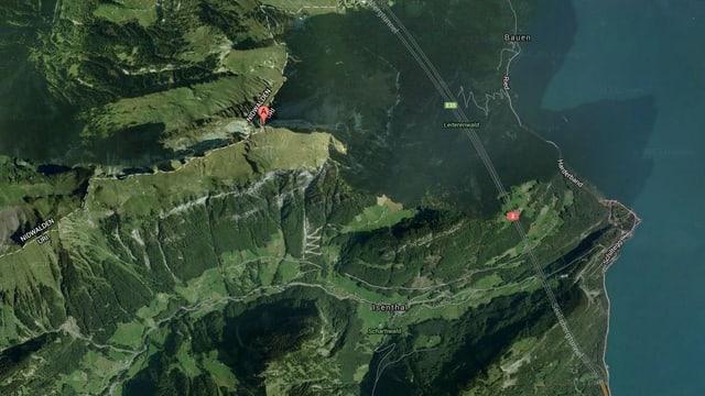Kartenausschnitt auf Google Maps