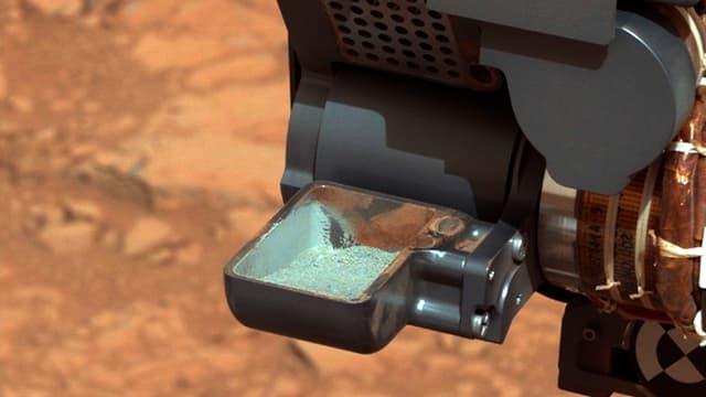 Eine Schale mit Marsstaub