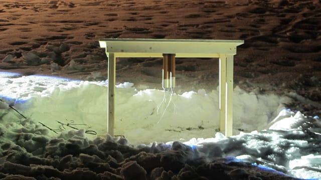 Tisch mit Raketen