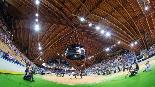 Tarpun verd e resgim enstagl glatsch en il stadion dal HCD.