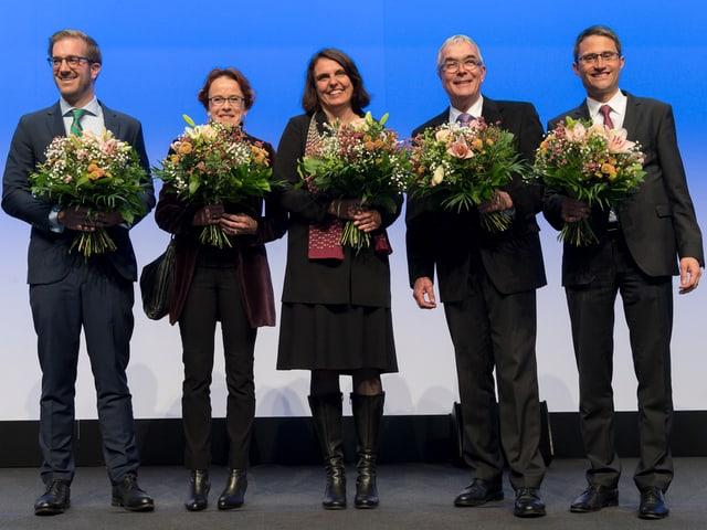 Gruppenbild der gewählen RegierungsrätInnen