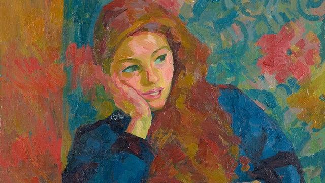 """En """"Pensierosa"""" sa musssa la luschezza dal bab Giovanni sin sia figlia Ottilia. El pictura ella en ses lieu preferì en stiva sin canapé."""