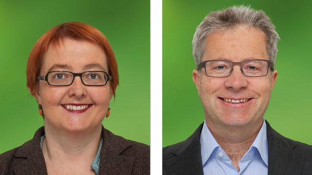Nathalie Imboden und Jan Remund von den Grünen.