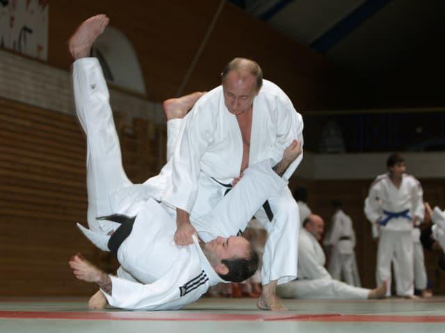 Vladimir Putin beim Judo-Training.