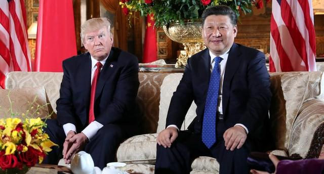Trump und Xi posieren.