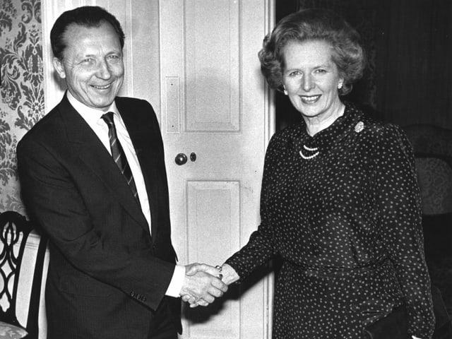 Delors 1984 mit der damaligen britischen Premierministerin Margaret Thatcher.