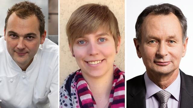 Daniel Humm, Johanna Gündel, Philipp Müller