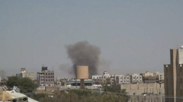 Rauchsäule über Sanaa