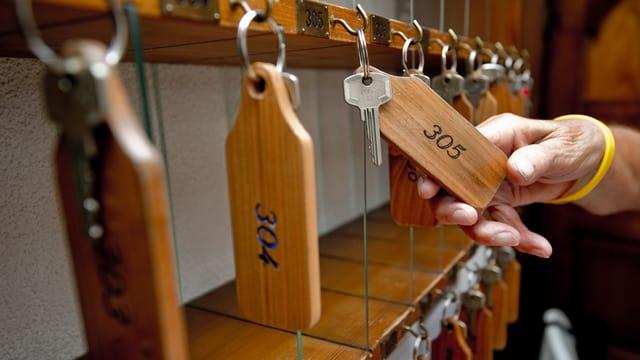Schlüssel in einem Hotel.