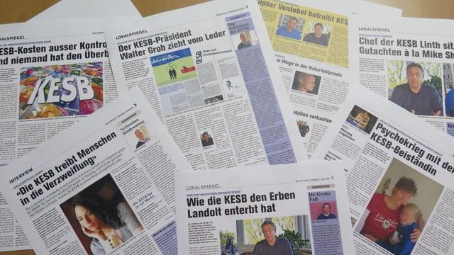 Verschieden Zeitungsartikel der Obersee-Nachrichten