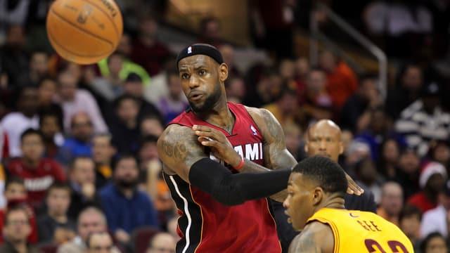 LeBron James war gegen Cleveland einmal mehr die überragende Figur.