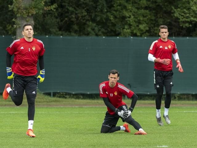 Die drei FCB-Goalies im Training