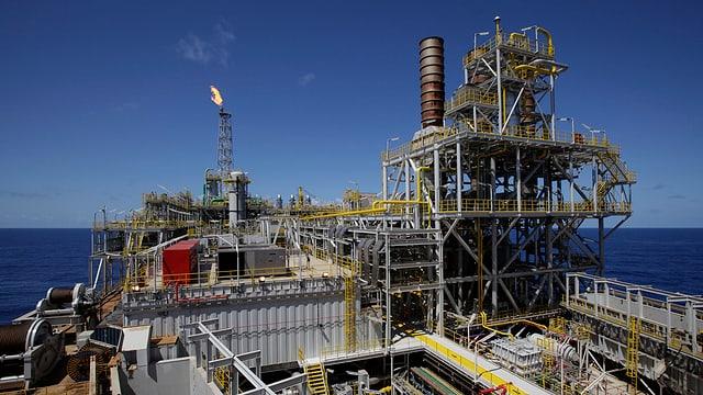 Eine Ölförderplattform von Petrobras.