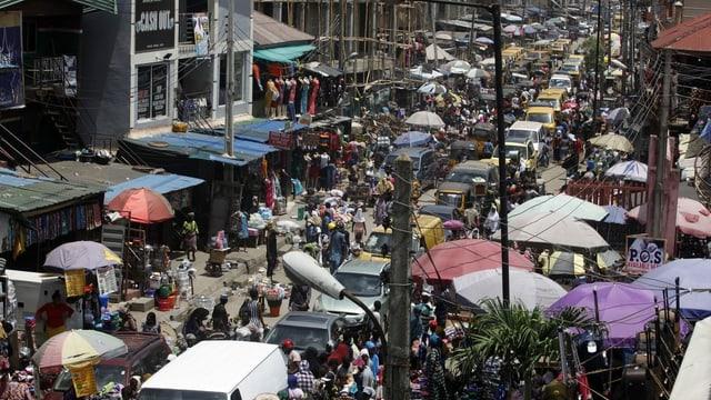 Strasse Lagos.