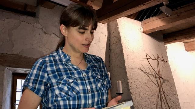 Die Baselbieter Autorin Barbara Saladin bei der Buchpräsentation.