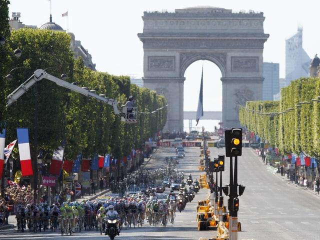 Die Tour de France in Paris