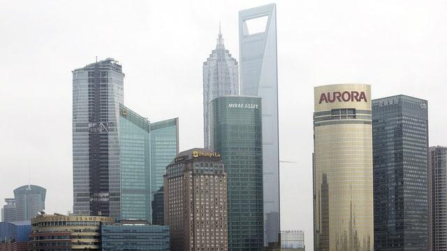 Finanzdistrikt Pudong in Shangha