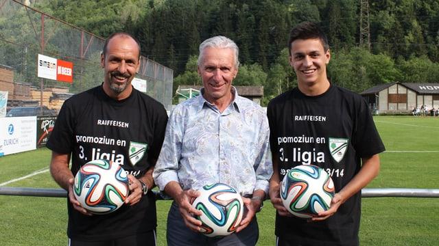 Roland, Gieri e Patrizio Decurtins (da sanester).